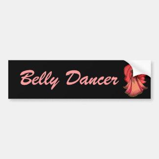 Valentine Pink Belly Dancer Bumper Sticker