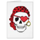 Valentine Pirate Card