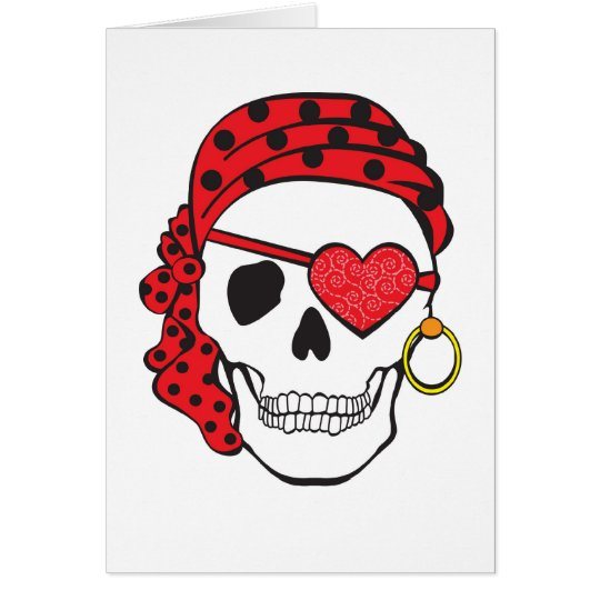 Valentine Pirate Card