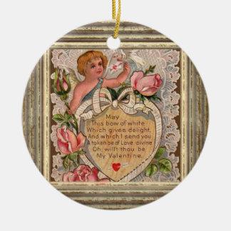 Valentine Poem Cupid Christmas Ornament