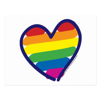 Valentine Pride Rainbow Postcard