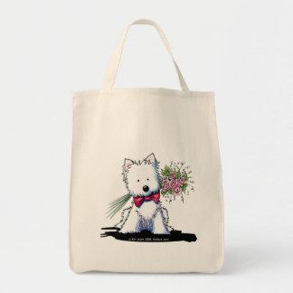 Valentine Prince Westie Bag Grocery Tote Bag