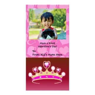 Valentine Princess Girl's Photo Card