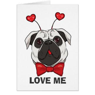 Valentine Pug Dog Card