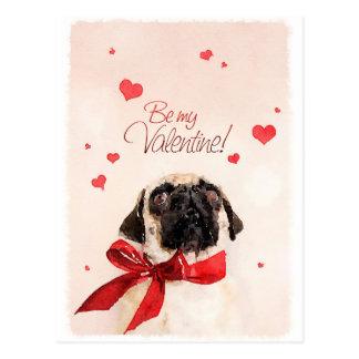 Valentine Pug Postcard