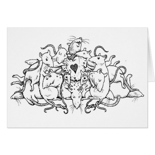 Valentine Rat Pile Card