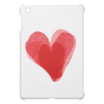 VALENTINE RED HEART iPad MINI COVERS