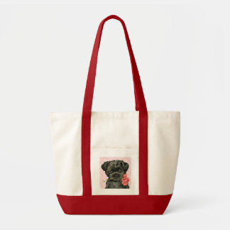 Valentine Rose Affenpinscher Impulse Tote Bag