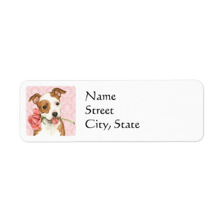 Valentine Rose Am Staff Return Address Label