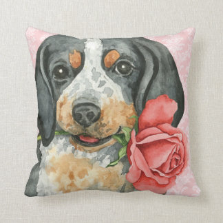 Valentine Rose Bluetick Cushion