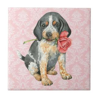 Valentine Rose Bluetick Tile