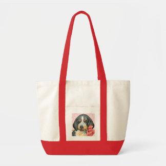 Valentine Rose Bluetick Tote Bag