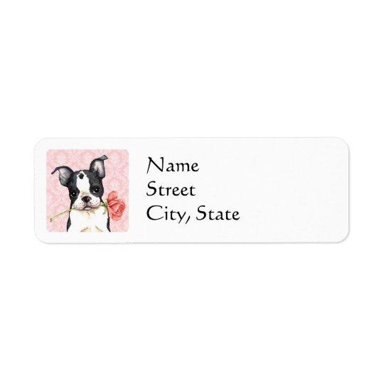 Valentine Rose Boston Terrier