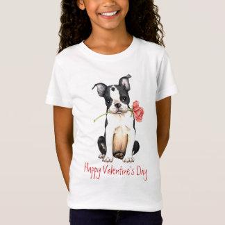 Valentine Rose Boston Terrier T-Shirt