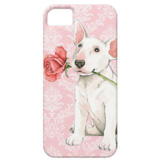 Valentine Rose Bull Terrier iPhone 5 Cases