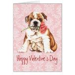 Valentine Rose Bulldog Card