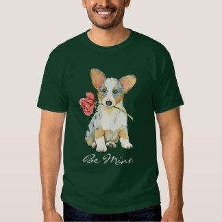 Valentine Rose Cardigan Welsh Corgi T Shirt