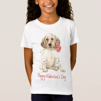 Valentine Rose English Setter T-Shirt
