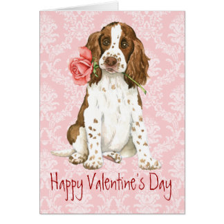 Valentine Rose English Springer Card