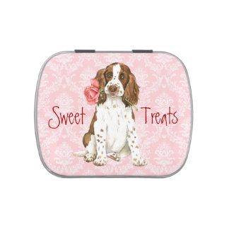 Valentine Rose English Springer Jelly Belly Tins