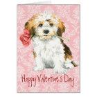 Valentine Rose Havanese Card