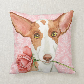 Valentine Rose Ibizan Hound Cushion