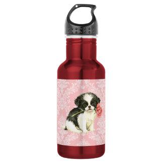 Valentine Rose Japanese Chin 532 Ml Water Bottle