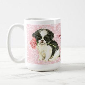 Valentine Rose Japanese Chin Coffee Mug