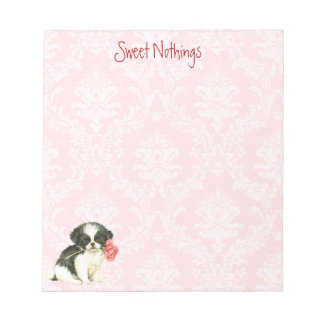Valentine Rose Japanese Chin Notepad