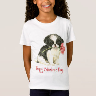 Valentine Rose Japanese Chin T-Shirt