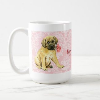 Valentine Rose Mastiff Classic White Coffee Mug