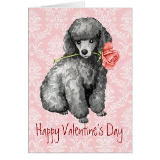 Valentine Rose Miniature Poodle Card