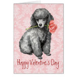 Valentine Rose Miniature Poodle Greeting Cards