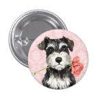 Valentine Rose Miniature Schnauzer Button