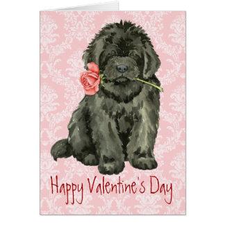 Valentine Rose Newfoundland Card