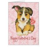 Valentine Rose Pembroke Welsh Corgi Cards