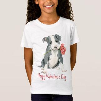 Valentine Rose Pit Bull T-Shirt