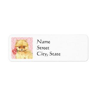 Valentine Rose Pomeranian Return Address Label