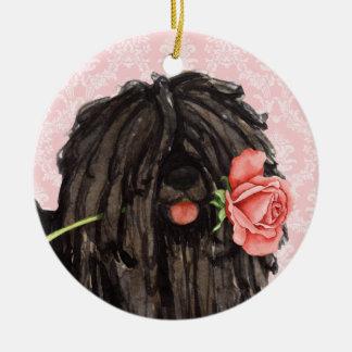 Valentine Rose Puli Christmas Ornament