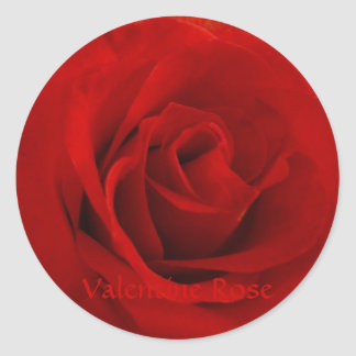 Valentine Rose Round Sticker