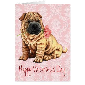 Valentine Rose Shar-Pei Greeting Card
