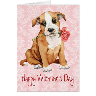 Valentine Rose Stafford Card
