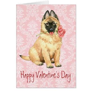Valentine Rose Tervuren Card