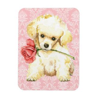 Valentine Rose Toy Poodle Rectangular Photo Magnet