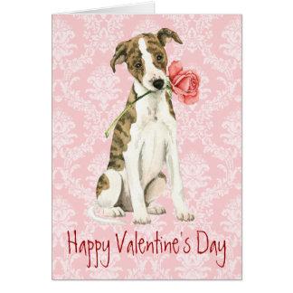 Valentine Rose Whippet Card