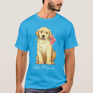 Valentine Rose Yellow Lab T-Shirt