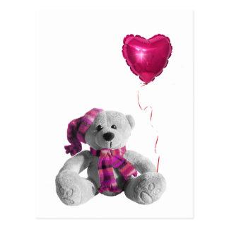 Valentine s Day Bear Heart Postcards
