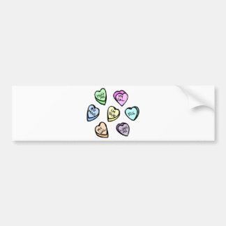 Valentine s Day Candy Hearts Bumper Sticker