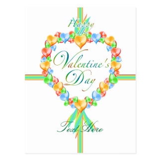 Valentine s Day Candy Hearts Custom Postcard