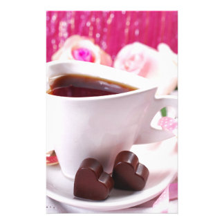 Valentine' S Day: Coffee & Chocolate Seventeen Custom Stationery